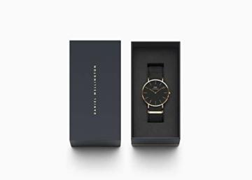 Daniel Wellington Classic Cornwall, Schwarz/Roségold Uhr, 40mm, NATO, für Herren - 4
