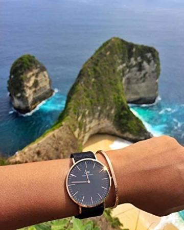 Daniel Wellington Classic Cornwall, Schwarz/Roségold Uhr, 40mm, NATO, für Herren - 5