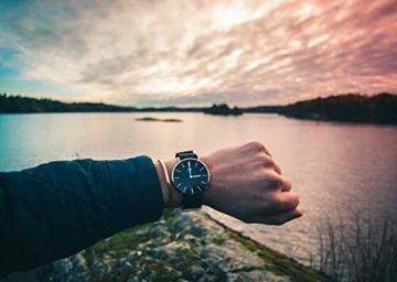 Daniel Wellington Classic Cornwall, Schwarz/Roségold Uhr, 40mm, NATO, für Herren - 6