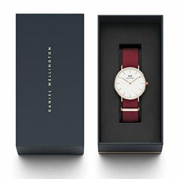 Daniel Wellington Classic Roselyn, Rubinrot/Roségold Uhr, 36mm, NATO, für Damen und Herren - 4