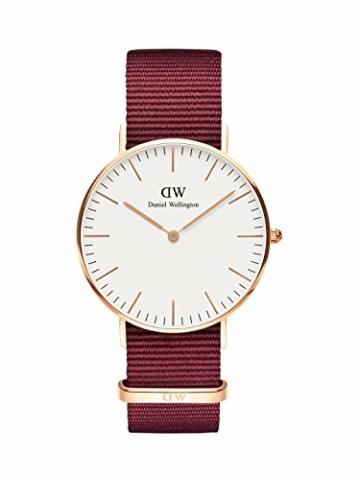Daniel Wellington Classic Roselyn, Rubinrot/Roségold Uhr, 36mm, NATO, für Damen und Herren - 1