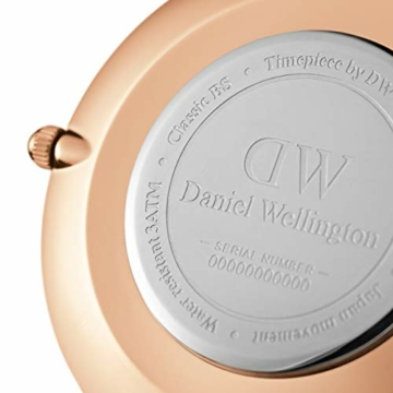 Daniel Wellington Petite Ashfield, Schwarz/Roségold Uhr, 28mm, Mesh, für Damen - 3