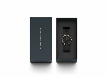 Daniel Wellington Petite Ashfield, Schwarz/Roségold Uhr, 28mm, Mesh, für Damen - 4
