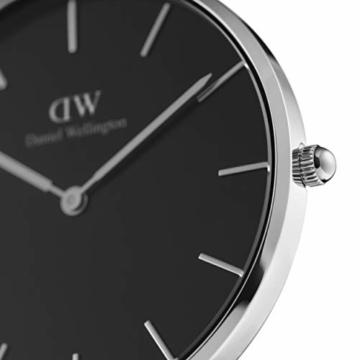 Daniel Wellington Petite Ashfield, Schwarz/Silber Uhr, 28mm, Mesh, für Damen - 2