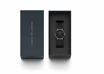 Daniel Wellington Petite Ashfield, Schwarz/Silber Uhr, 28mm, Mesh, für Damen - 4