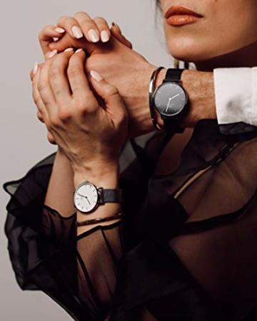 Daniel Wellington Petite Ashfield, Schwarz/Silber Uhr, 28mm, Mesh, für Damen - 5