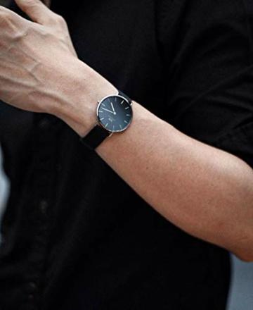 Daniel Wellington Petite Ashfield, Schwarz/Silber Uhr, 28mm, Mesh, für Damen - 6