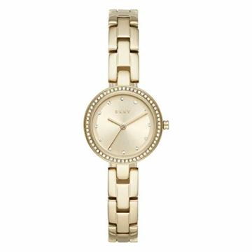 DKNY City Link 3-Zeiger-Uhr aus goldfarbenem Edelstahl NY2825 - 1
