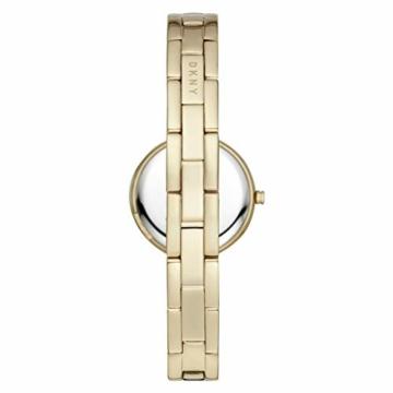 DKNY City Link 3-Zeiger-Uhr aus goldfarbenem Edelstahl NY2825 - 2