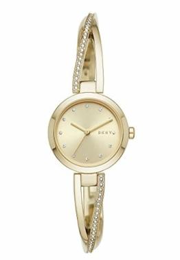 DKNY Crosswalk 3-Zeiger-Uhr aus goldfarbenem Edelstahl NY2830 - 1