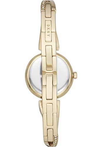 DKNY Crosswalk 3-Zeiger-Uhr aus goldfarbenem Edelstahl NY2830 - 4
