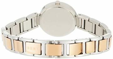 DKNY Damen Analog Quarz Uhr mit Edelstahl Armband NY2402 - 2
