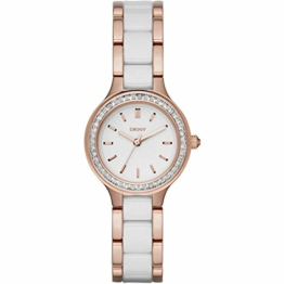 DKNY Damen Analog Quarz Uhr mit Edelstahl Armband NY2496 - 1