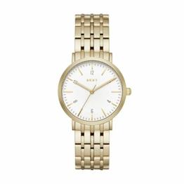 DKNY Damen Analog Quarz Uhr mit Edelstahl Armband NY2503 - 1