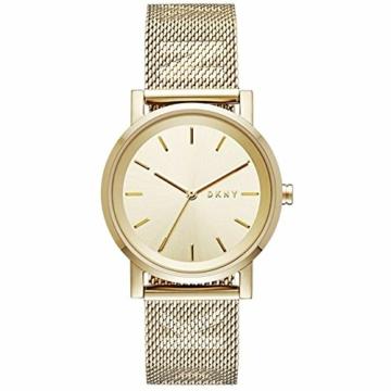 DKNY Damen Analog Quarz Uhr mit Edelstahl Armband NY2621 - 1