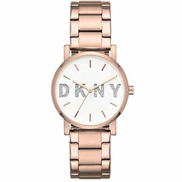 DKNY Damen Analog Quarz Uhr mit Edelstahl Armband NY2654 - 1