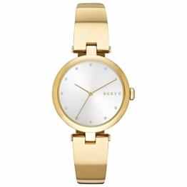 DKNY Damen Analog Quarz Uhr mit Edelstahl Armband NY2712 - 1