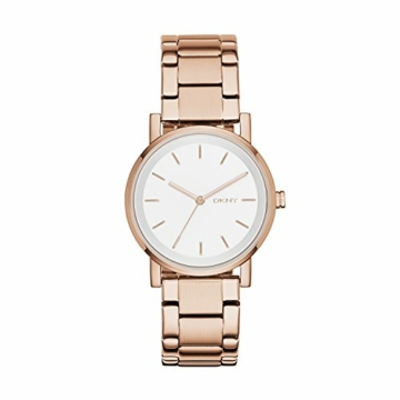 DKNY Damen Analog Quarz Uhr mit Edelstahl beschichtet Armband NY2344 - 1