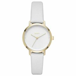 DKNY Damen Analog Quarz Uhr mit Leder Armband NY2677 - 1