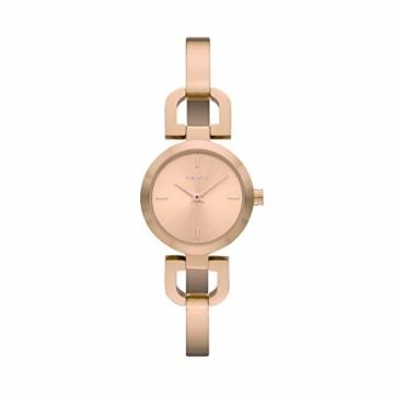 DKNY Damen-Armbanduhr XS Analog Quarz Edelstahl beschichtet NY8542 - 1