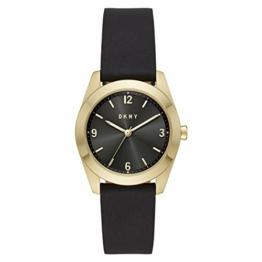 DKNY Damen Quartz Uhr mit Leder Armband NY2876 - 1
