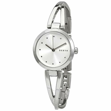 DKNY Damen-Uhren Analog Quarz One Size Silber Edelstahl 32002251 - 3