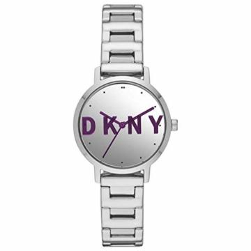 DKNY Damen-Uhren Analog Quarz One Size Silber Edelstahl 32010658 - 1