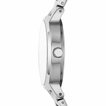 DKNY Damen-Uhren Analog Quarz One Size Silber Edelstahl 32010658 - 3