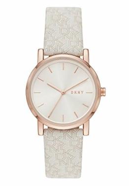 DKNY Damen-Uhren Analog Quarz One Size Weiß 87920747 - 1