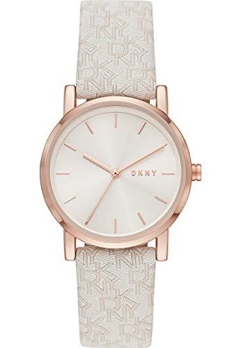 DKNY Damen-Uhren Analog Quarz One Size Weiß 87920747 - 2