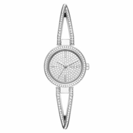 DKNY Damen-Uhren Quarz One Size Silberfarben Edelstahl 32012026 - 1
