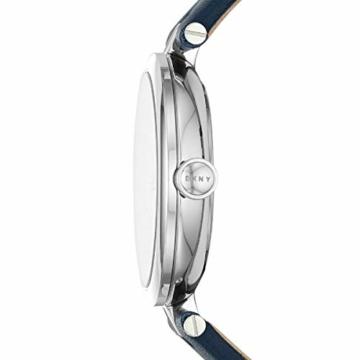 DKNY Eastside - Damenuhr aus dunkelblauem Leder mit DREI Zeigern - NY2814 - 2