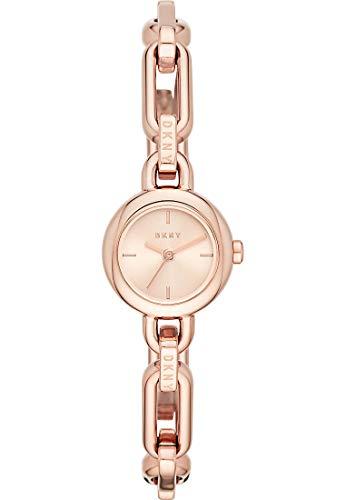 DKNY NY2914 Round Uptown Uhr Damenuhr Edelstahl vergoldet 5 bar Analog Rose - 2