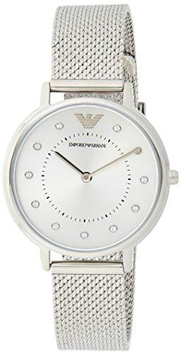 Emporio Armani Damen Analog Quarz Uhr mit Edelstahl Armband AR11128 - 1