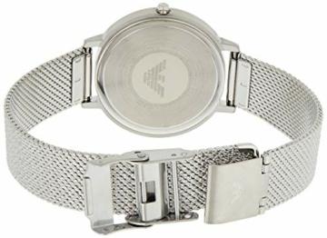 Emporio Armani Damen Analog Quarz Uhr mit Edelstahl Armband AR11128 - 2