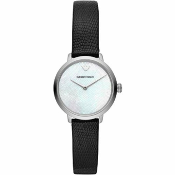 Emporio Armani Damen Analog Quarz Uhr mit Leder Armband AR11159 - 1