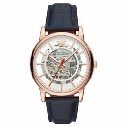Emporio Armani Herren Analog Automatik Uhr mit Leder Armband AR60009 - 1
