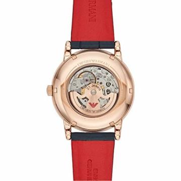 Emporio Armani Herren Analog Automatik Uhr mit Leder Armband AR60009 - 3