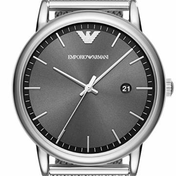 Emporio Armani Herren Analog Quarz Uhr mit Edelstahl Armband AR11069 - 2