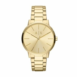 Emporio Armani Herren Analog Quarz Uhr mit Edelstahl Armband AX2707 - 1