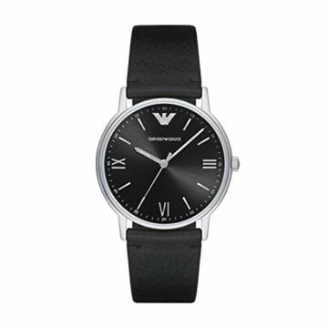 Emporio Armani Herren Analog Quarz Uhr mit Leder Armband AR11013 - 1