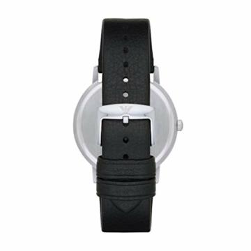 Emporio Armani Herren Analog Quarz Uhr mit Leder Armband AR11013 - 2
