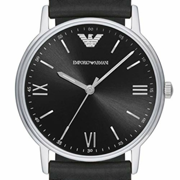 Emporio Armani Herren Analog Quarz Uhr mit Leder Armband AR11013 - 4