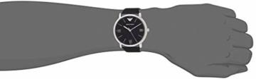 Emporio Armani Herren Analog Quarz Uhr mit Leder Armband AR11013 - 5