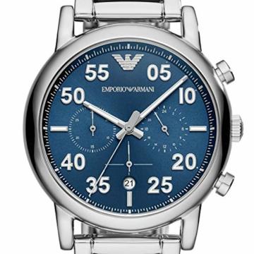 Emporio Armani Herren Chronograph Quarz Smart Watch Armbanduhr mit Edelstahl Armband AR11132 - 3