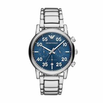 Emporio Armani Herren Chronograph Quarz Smart Watch Armbanduhr mit Edelstahl Armband AR11132 - 1