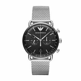 Emporio Armani Herren Chronograph Quarz Uhr mit Edelstahl Armband AR11104 - 1