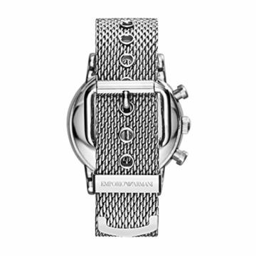 Emporio Armani Herren Chronograph Quarz Uhr mit Edelstahl Armband AR1808 - 2