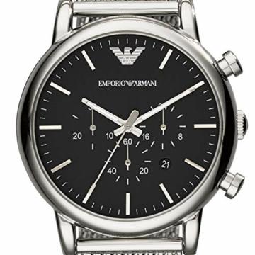 Emporio Armani Herren Chronograph Quarz Uhr mit Edelstahl Armband AR1808 - 4