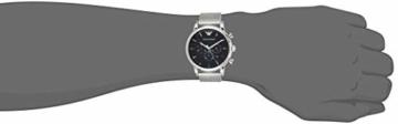 Emporio Armani Herren Chronograph Quarz Uhr mit Edelstahl Armband AR1808 - 5